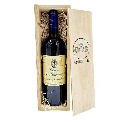 French Bordeaux St Emilion Red Wine Wooden Gift Box