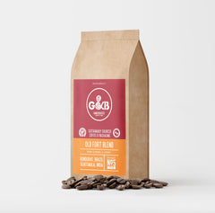 G&B Hand Roasted Coffee Beans 1kg Old Fort Blend