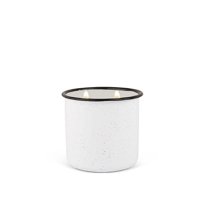 Alpine 9.5oz Enamelware White White Woods & Mint Candle