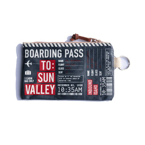 Boarding Pass Sun Valley Idaho Small Pouch