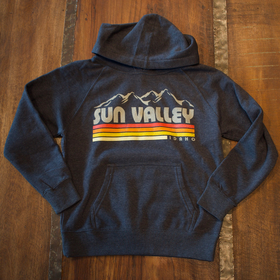 Bueller Sun Valley Idaho Navy Youth Hoodie