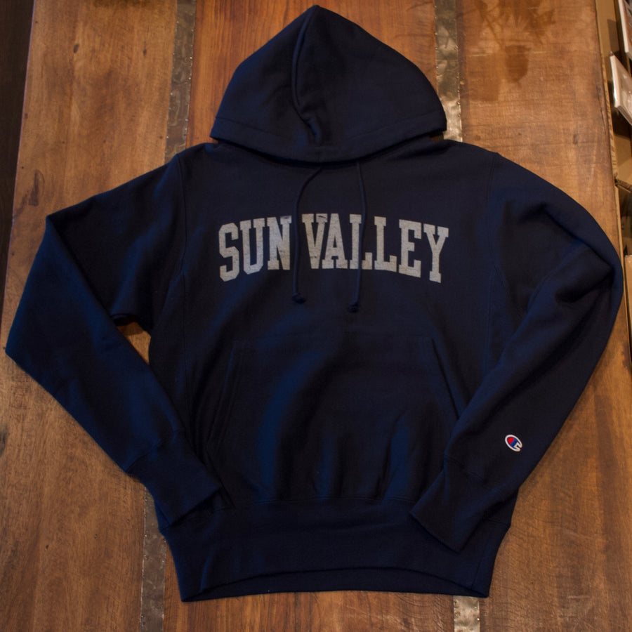 Champion Navy Reverse Weave Sun Valley Idaho Hoodie