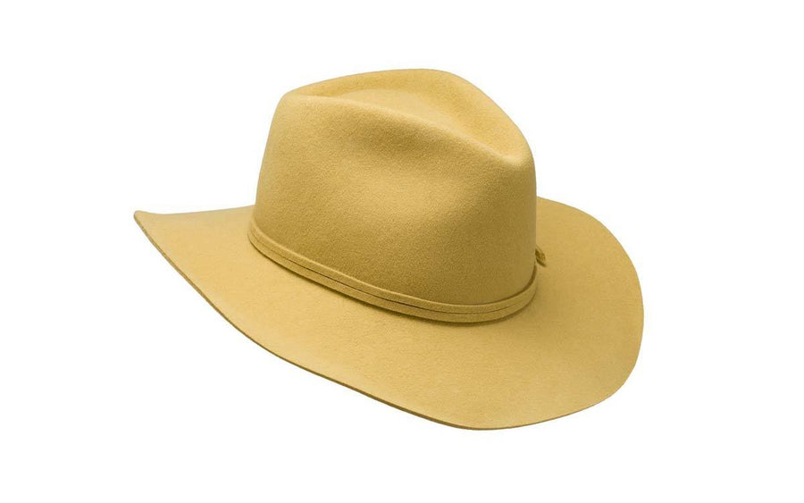 Phoebe Wide Brim Wool Hat - Gold