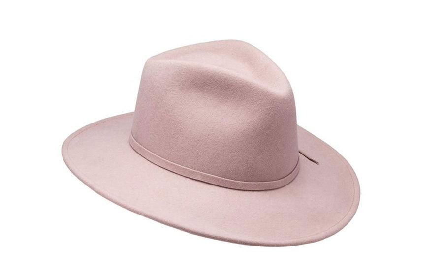 Willa Wide Brim Felt Hat - Quartz