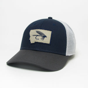 Montana State Fly Navy/Grey Trucker Hat