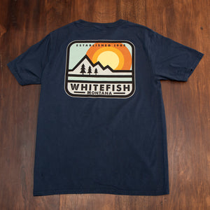 Pillow Talk Whitefish Montana Indigo T-Shirt