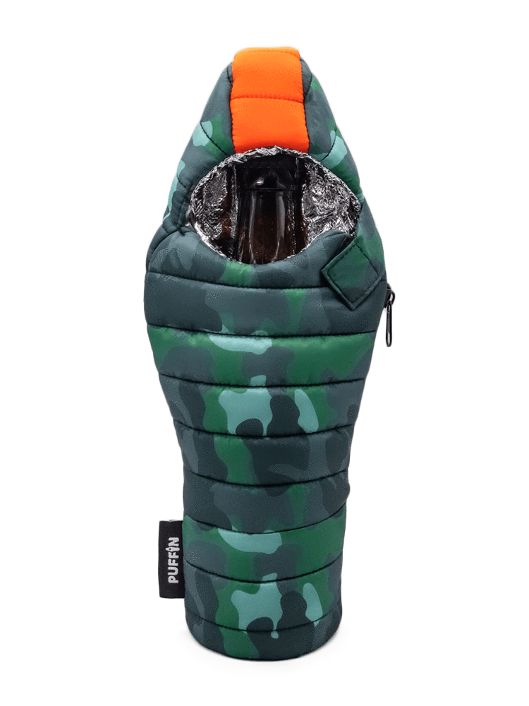 Beverage Sleeping Bag Camo Coozie