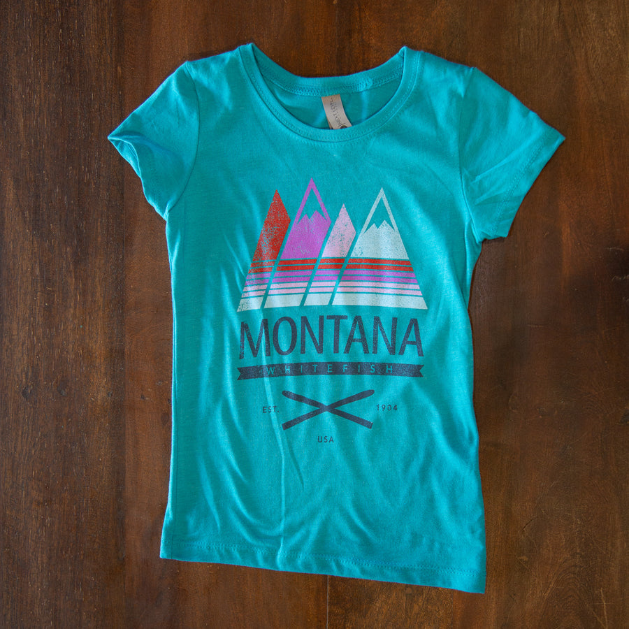 Quatro Whitefish Montana Blue Abyss Youth T-Shirt