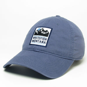 Relaxed Twill Whitefish Montana Slate Blue Hat