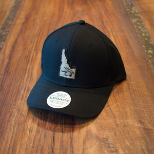 State Fly Fishing Sun Valley Idaho Black Trucker Hat