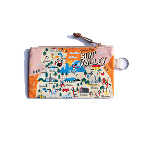 Sun Valley Idaho Map Small Pouch
