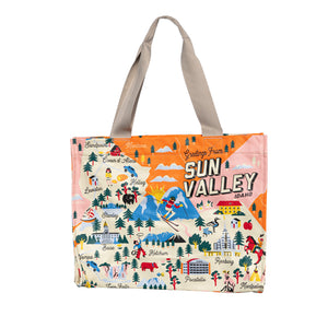 Sun Valley Idaho Map Wide Bag