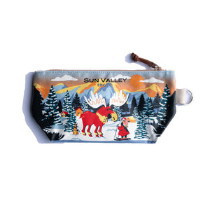 Winter Moose Sun Valley Idaho Medium Pouch