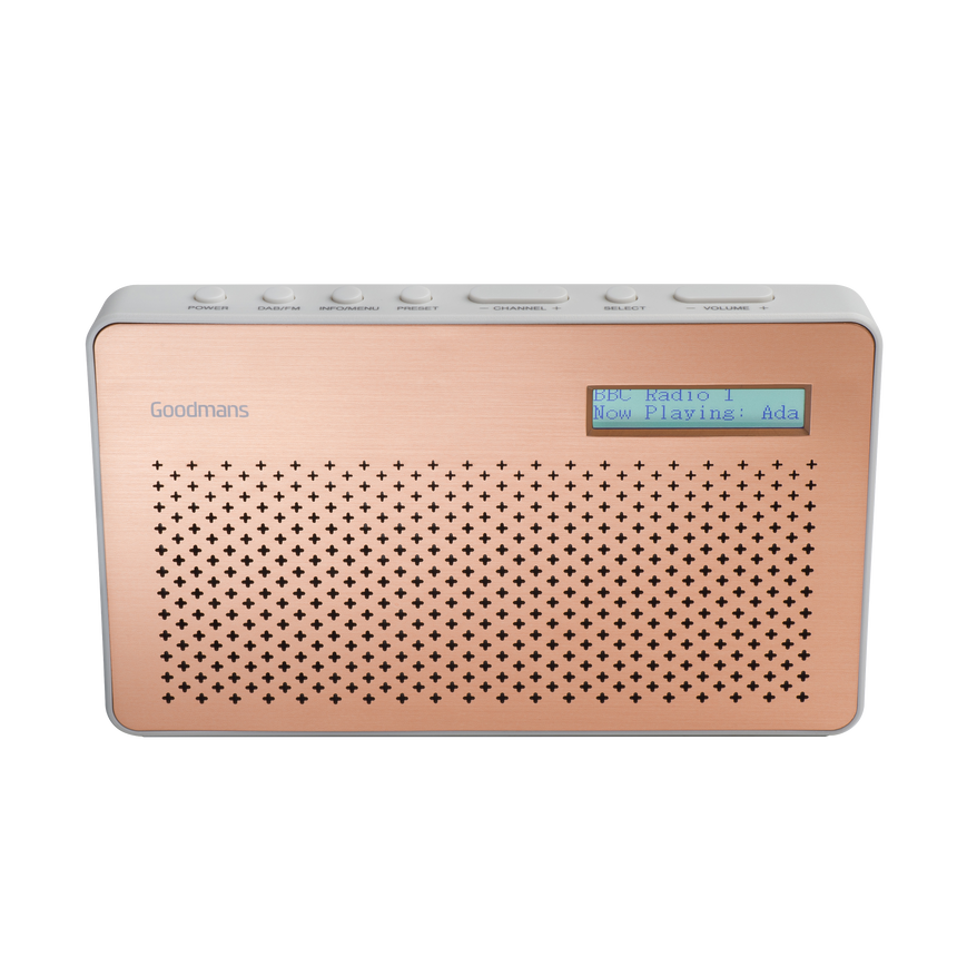 Canvas, Portable DAB Digital & FM RDS Radio, Battery Operated - Cooper CANVASCOP transparent background