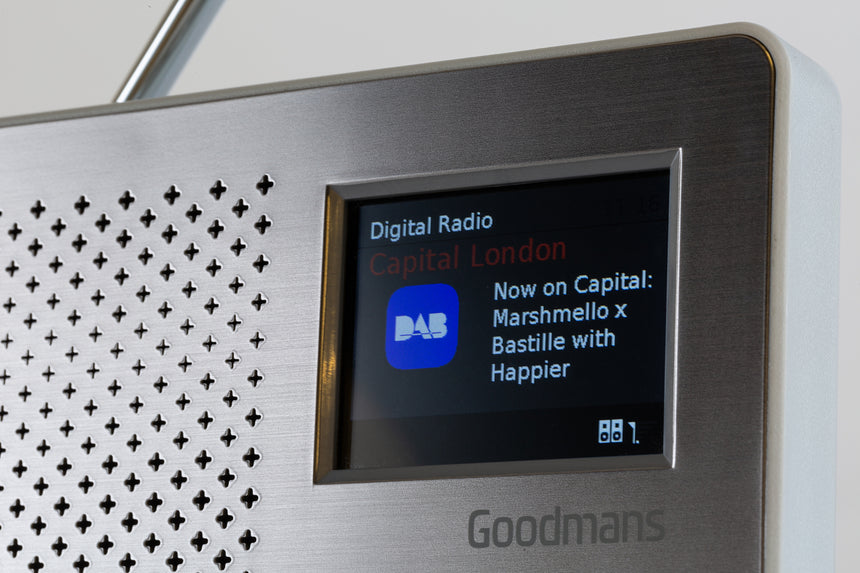Goodmans Canvas 2 DAB+ Radio with Colour TFT Screen - Slatte CANVAS2SLT transparent background