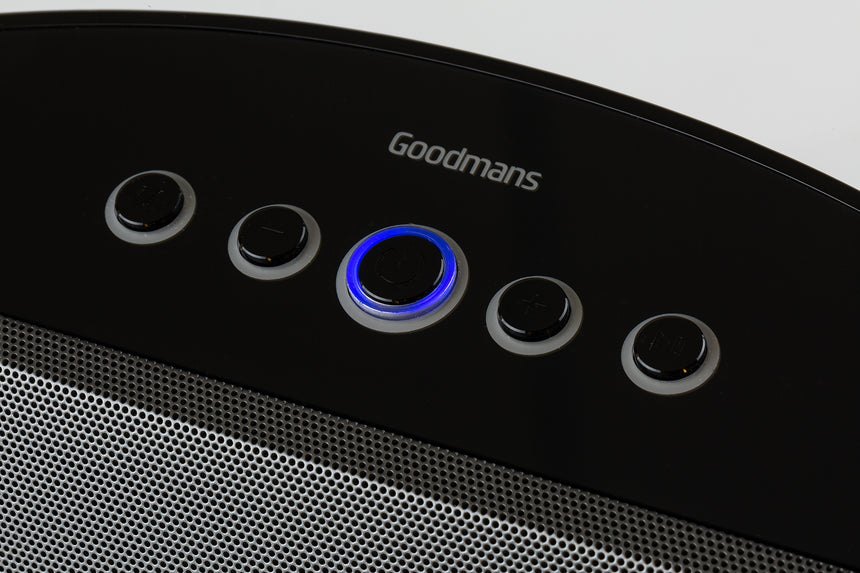 Goodmans Crescent High Performance Stereo Bluetooth Speaker GDBTSPK30BLK transparent background