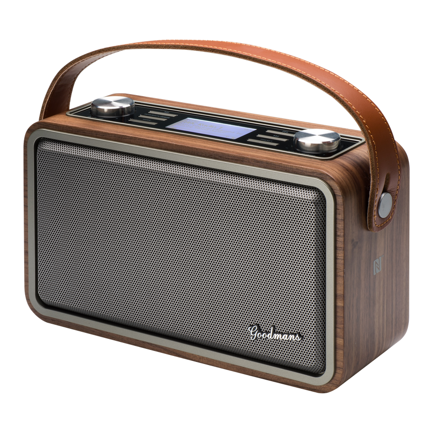 Goodmans Heritage Portable, Wireless, DAB+ Digital Radio, Spotify, Bluetooth & NFC HP1WOD transparent background