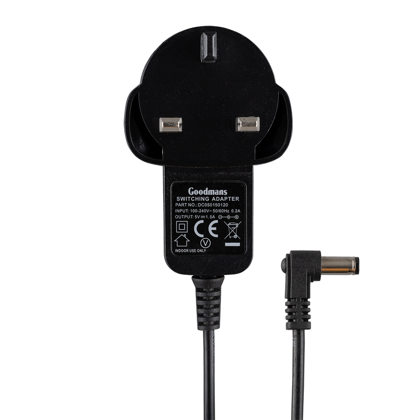 Goodmans 5V 1.5A Power Adaptor