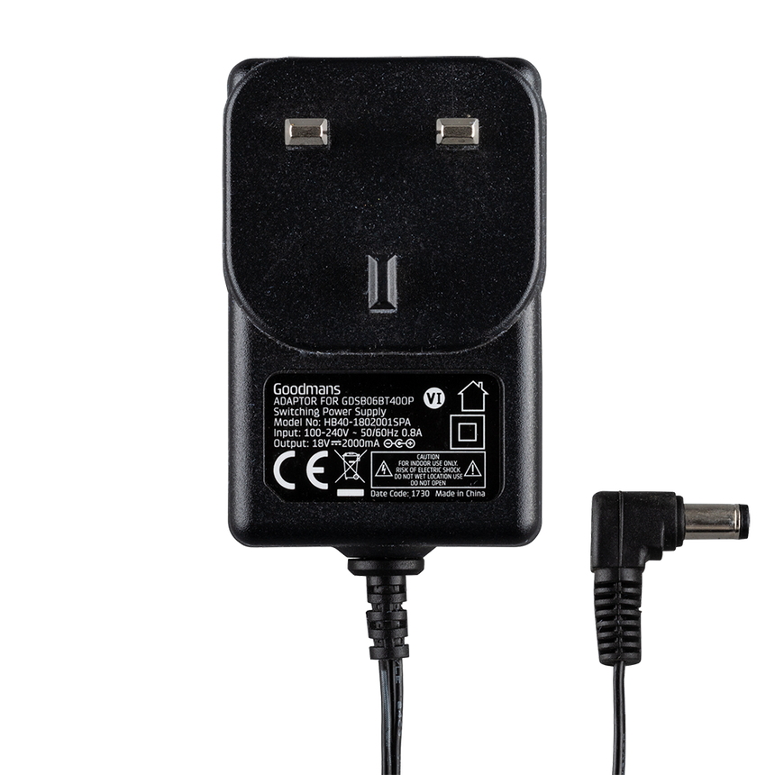 Goodmans GDSB06BT40OP Power Adaptor