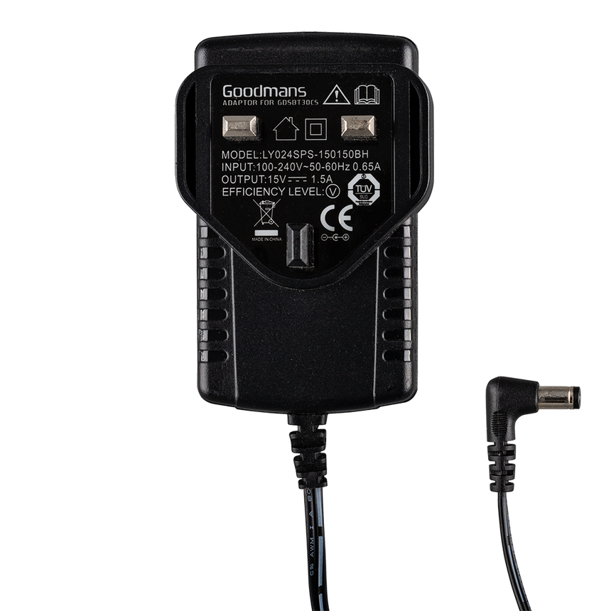 Goodmans 15V-1.5A GDSBT30CS Power Adaptor