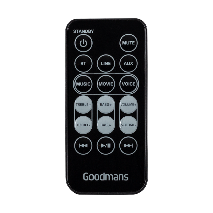 Goodmans GDSBT30CS Remote Control
