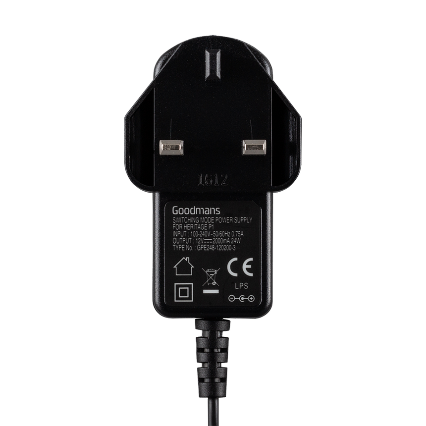 Goodmans 12V-2000mA (Heritage Portable Connect Power Adaptor)