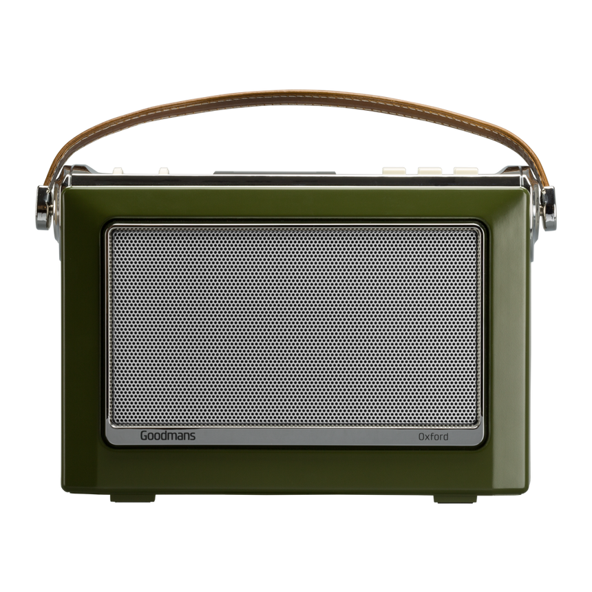 Goodmans Oxford DAB Digital Radio - Moss Green OXFORDGRN transparent background