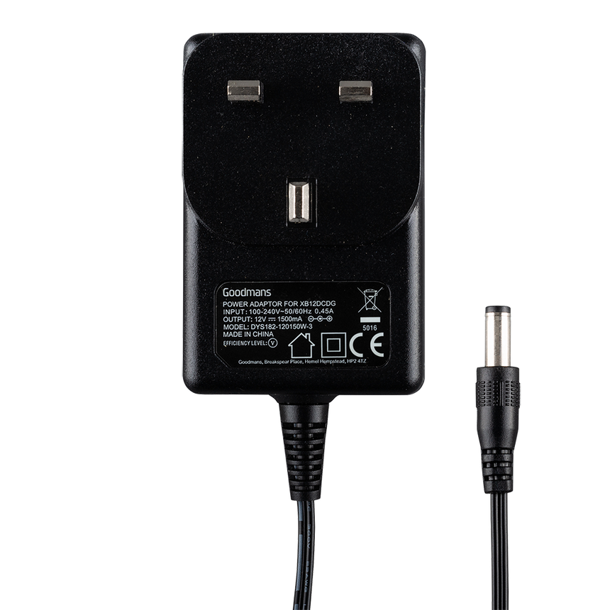 Goodmans 12V-1500mA XXB12CDG Power Adaptor