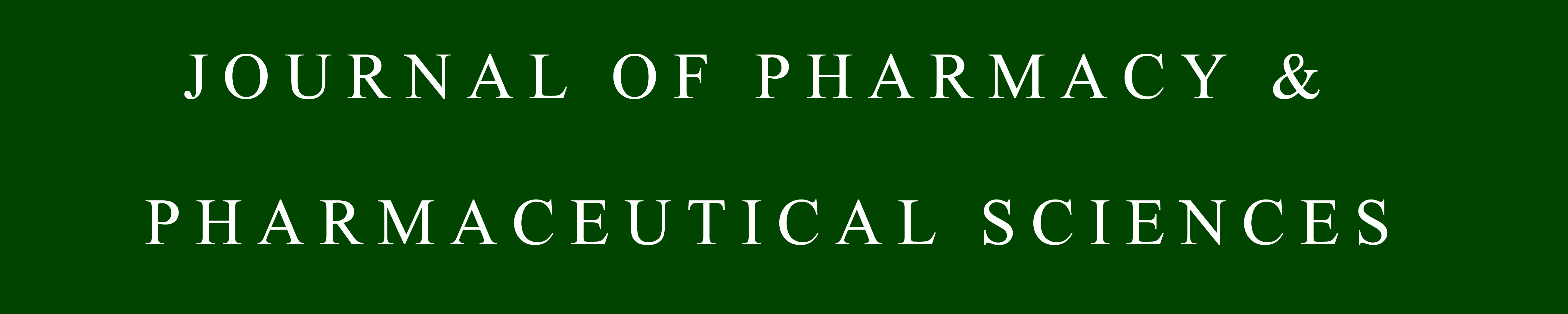 Journal of Pharmacy and Pharmaceutical Sciences logo