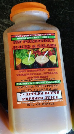 7 Apples Blend Pressed Juice - 16oz.