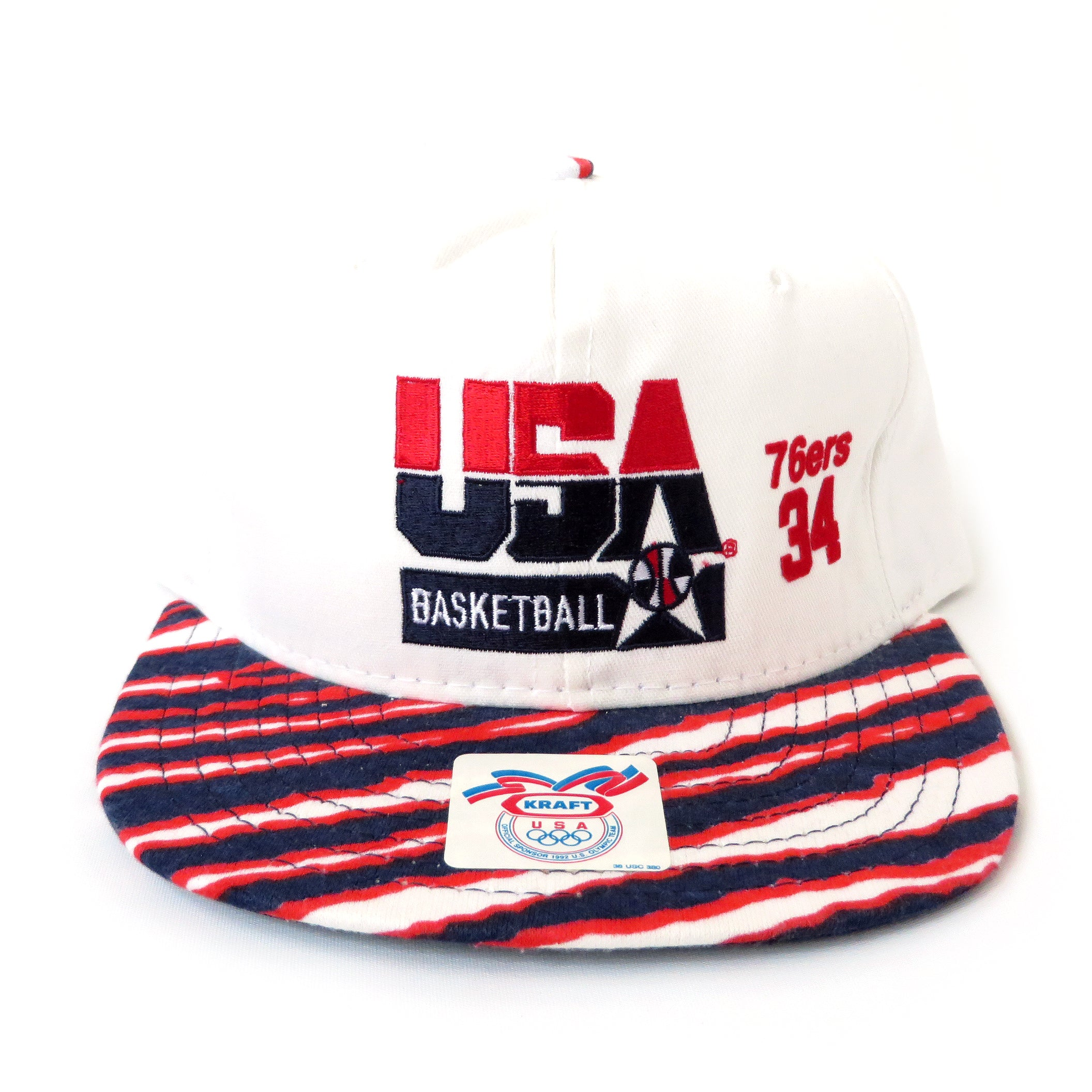 Vintage USA Basketball Barkley 76ers Zubaz Snapback Hat