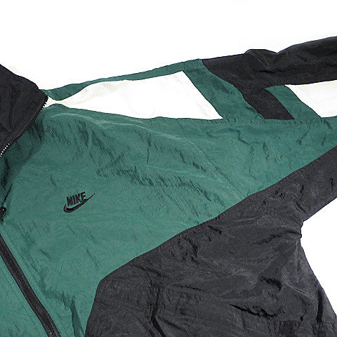 Nike Green/Black Zip Up Windbreaker Jacket Sz L