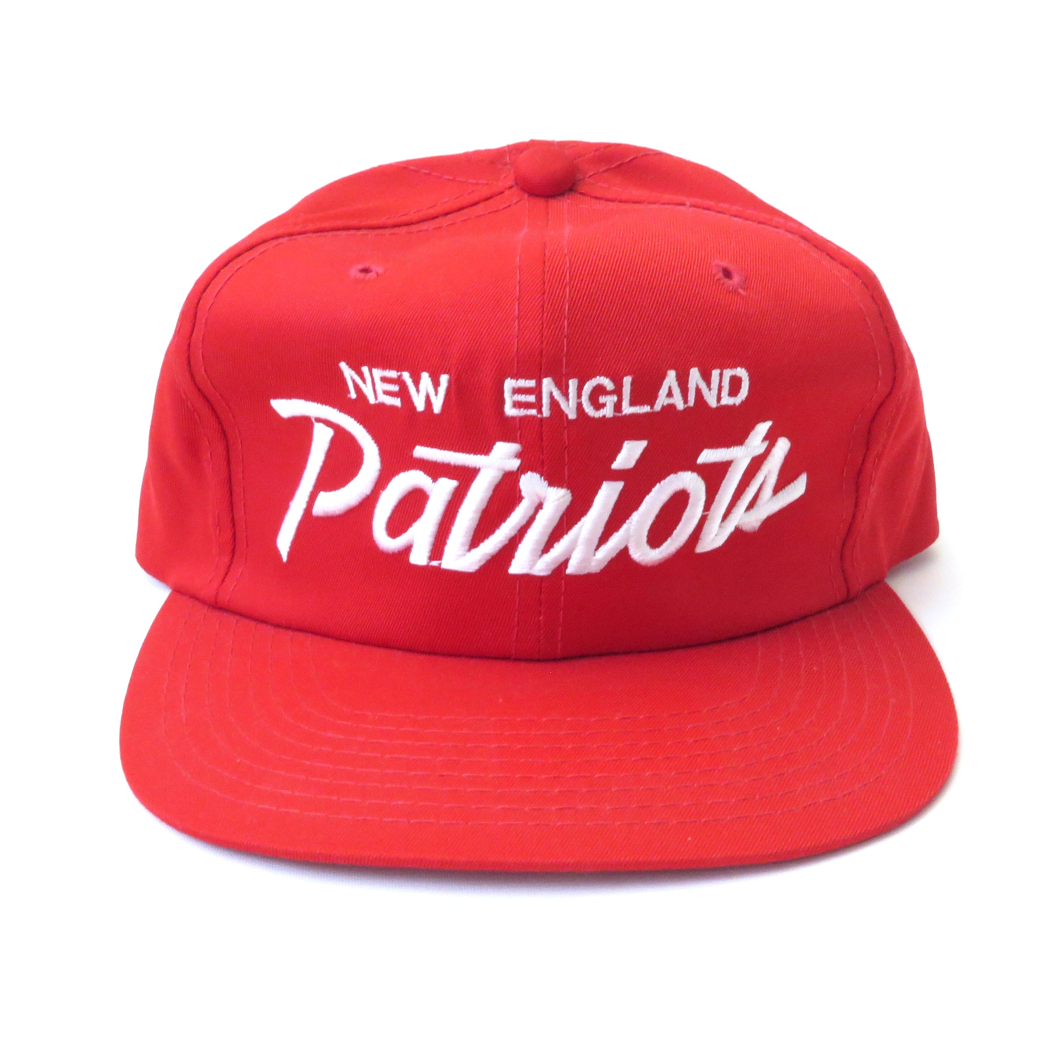 Vintage New England Patriots Script Snapback Hat Snap Goes My Cap