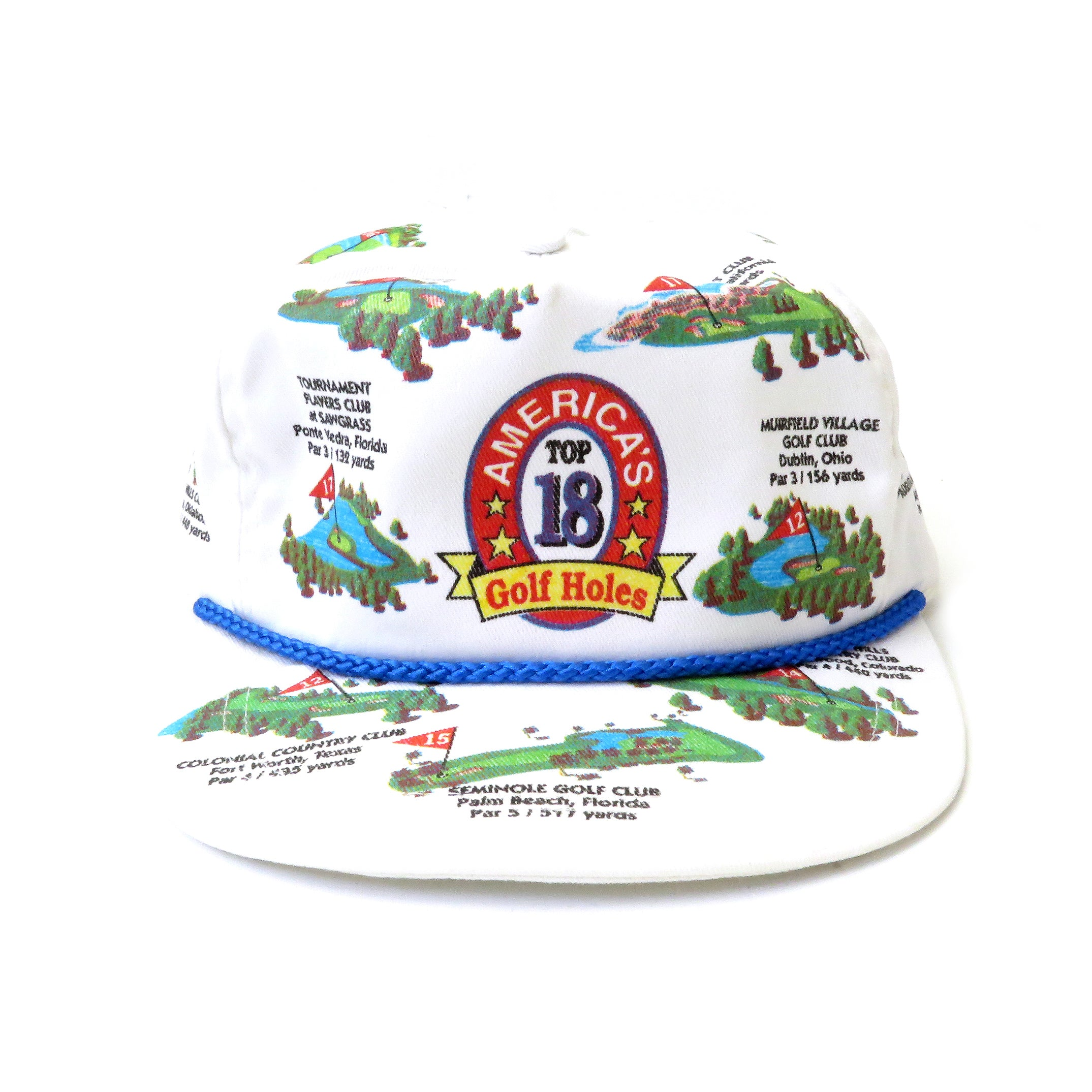 Vintage America's Top 18 Golf Holes Strapback Hat