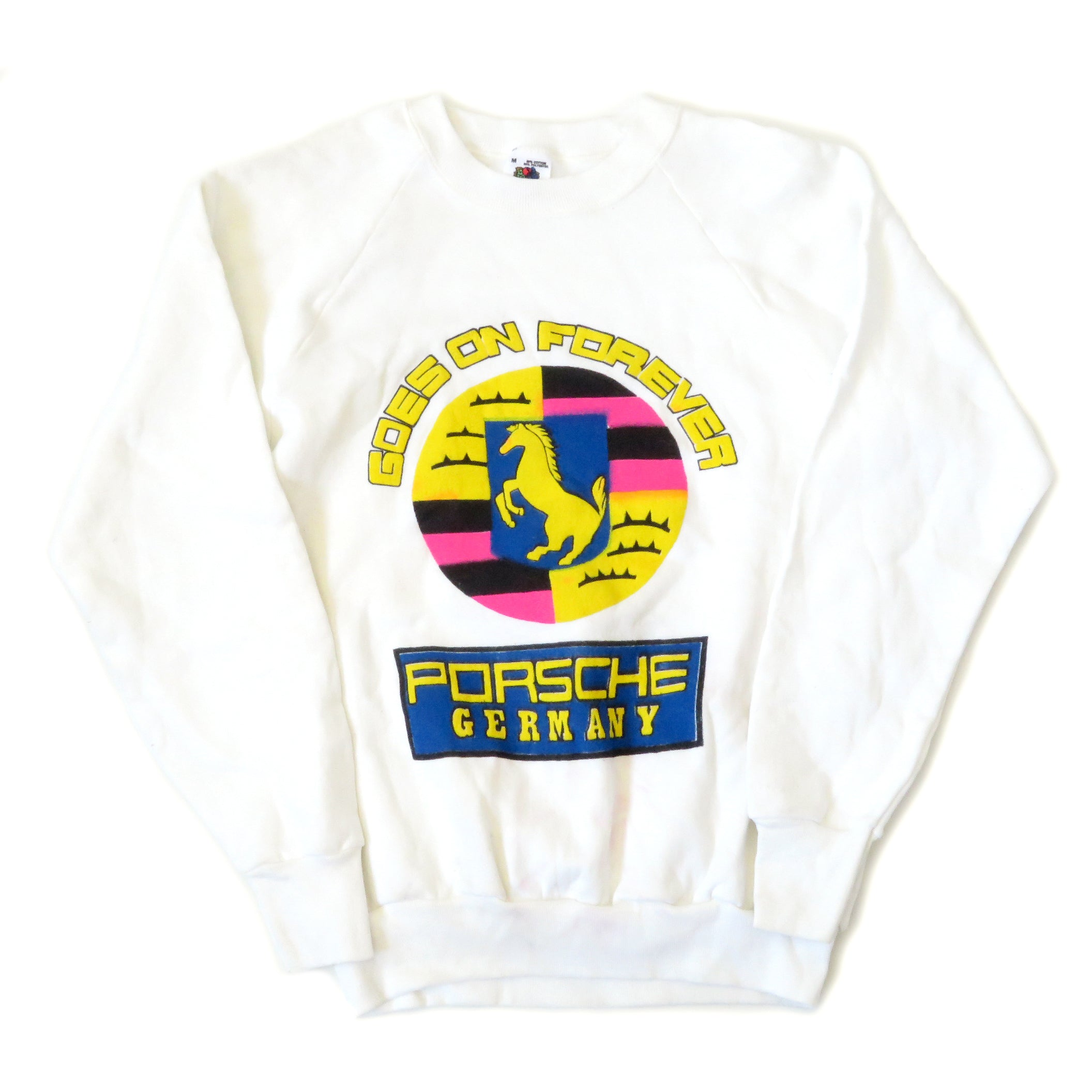 Vintage 1980's Porsche Germany Goes On Forever Sweatshirt Sz M