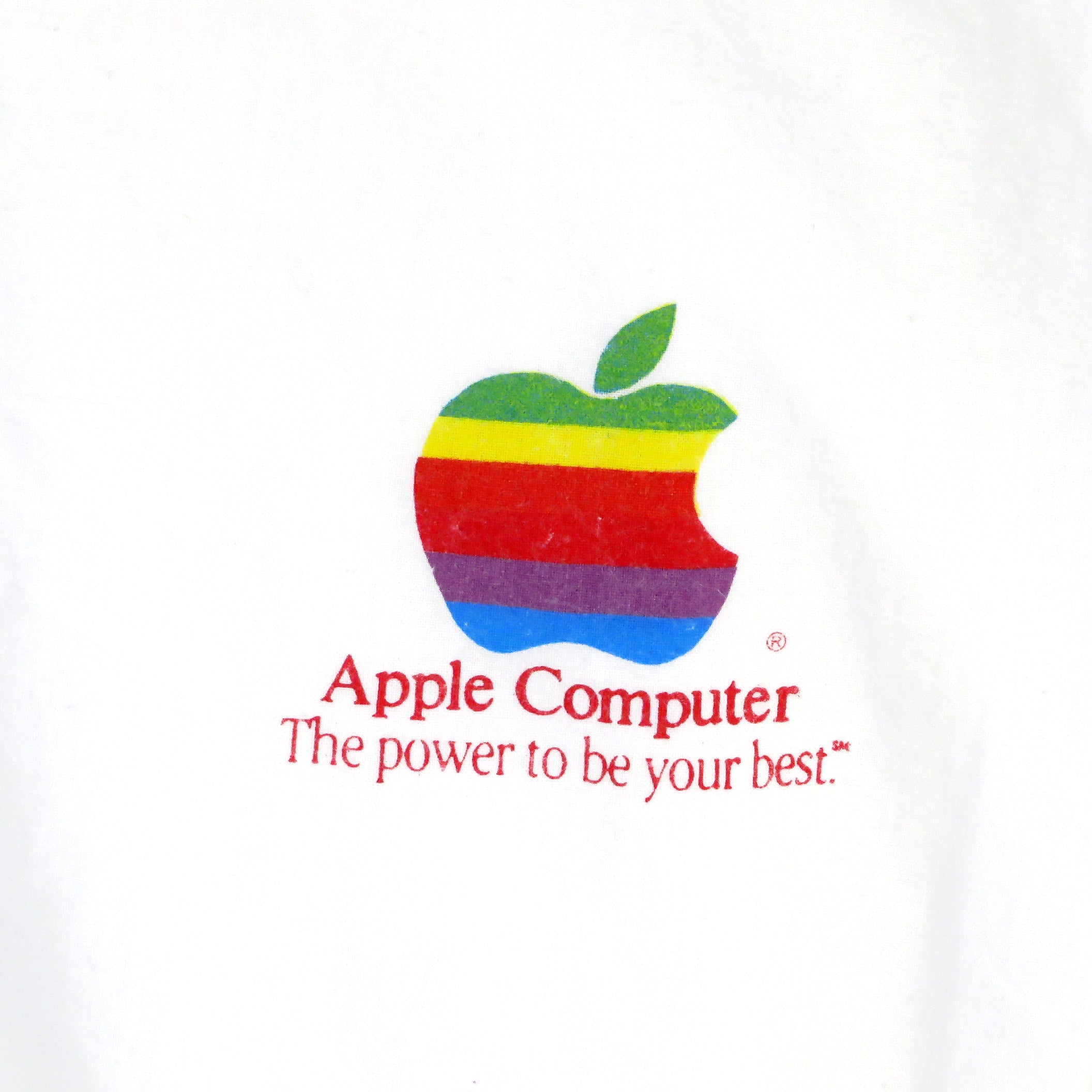 Vintage 1986 Apple Computer The Power To Be Your Best Sweatshirt Sz L