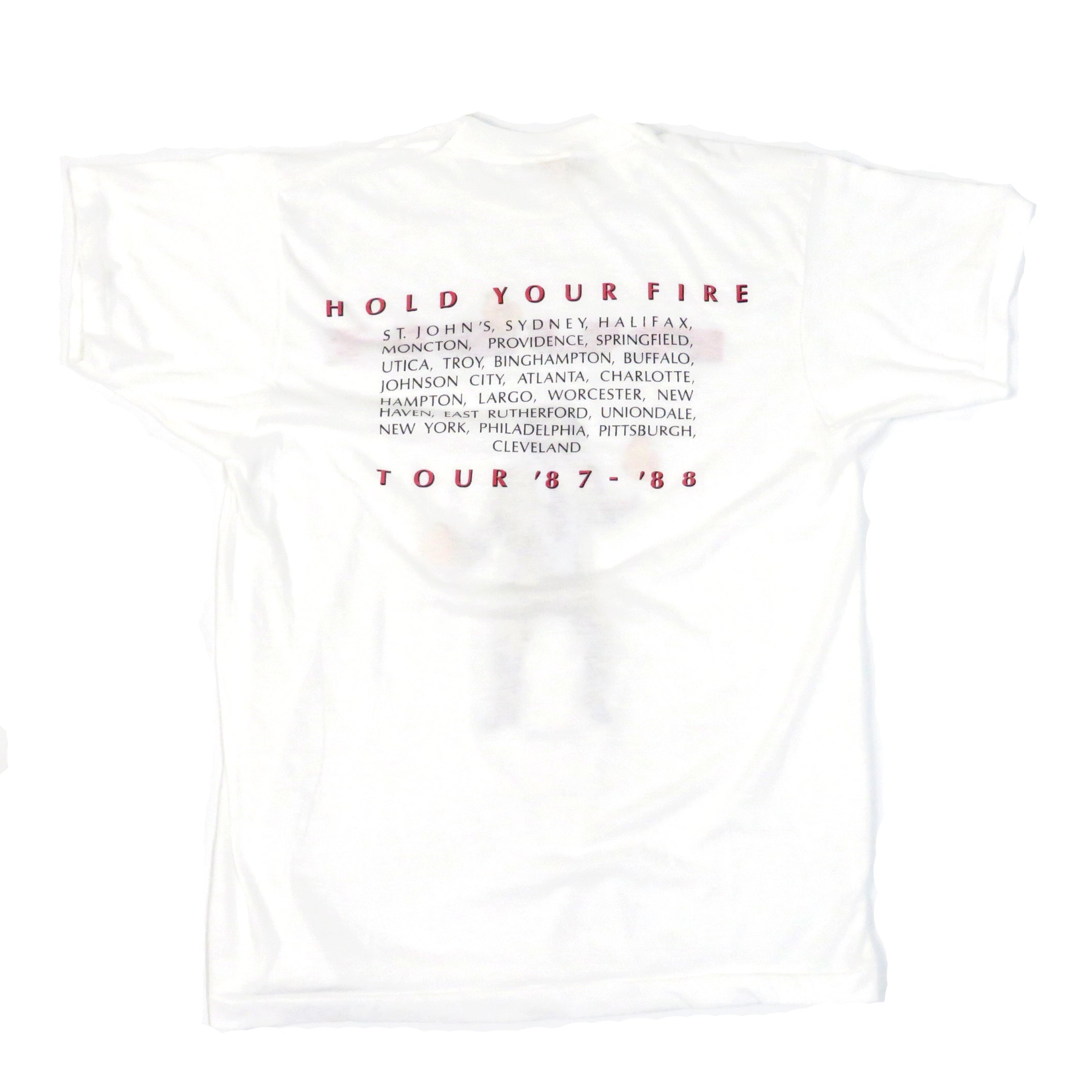 Vintage 1987 Rush Hold Your Fire Tour T-Shirt Sz L