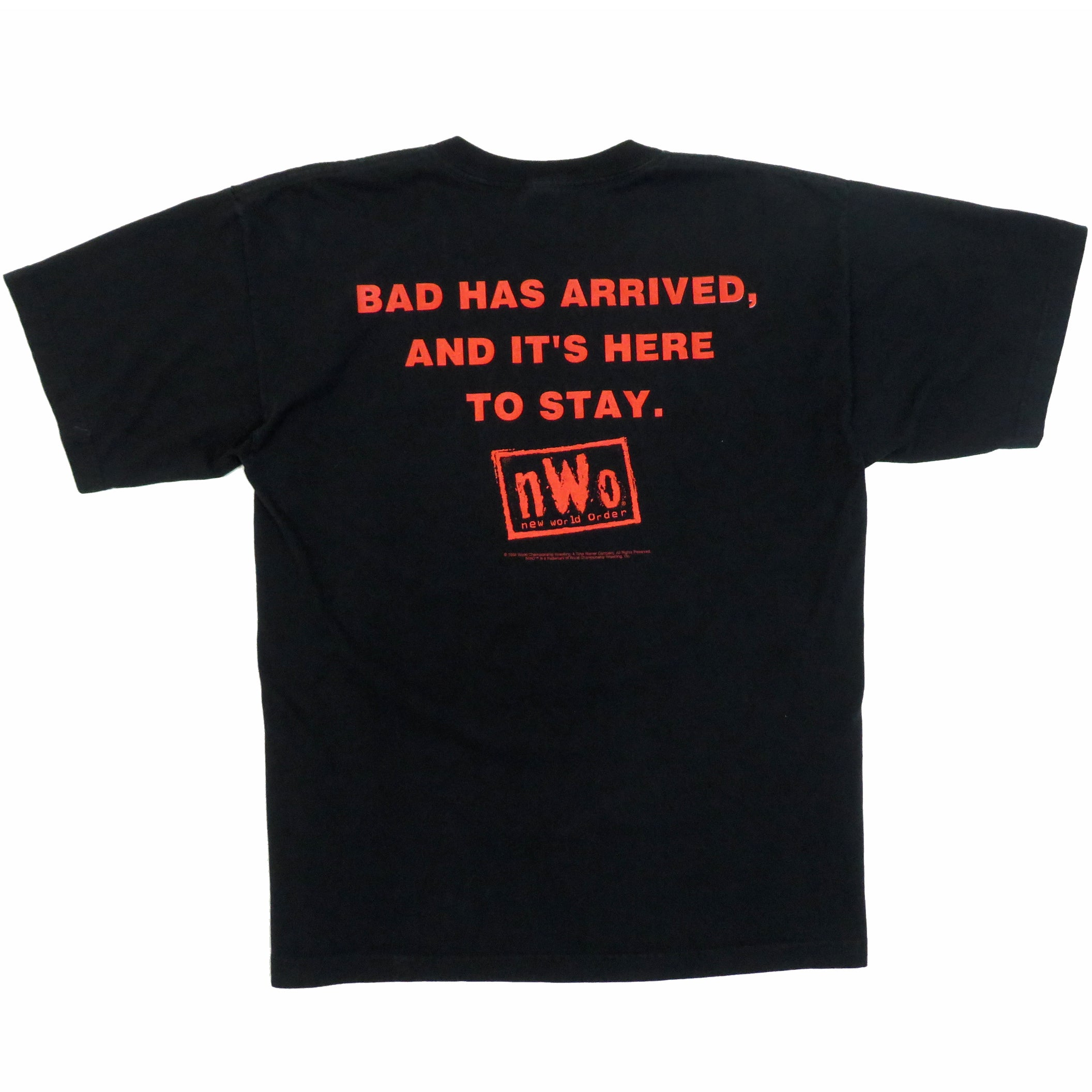 Vintage 1990's New World Order NWO Bad Has Arrived T-Shirt Sz XL