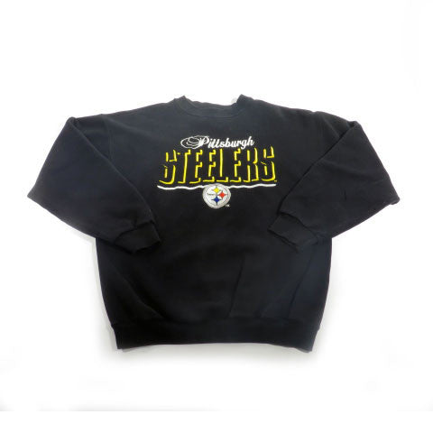 Pittsburgh Steelers Logo Athletic Crewneck Sweatshirt Sz L