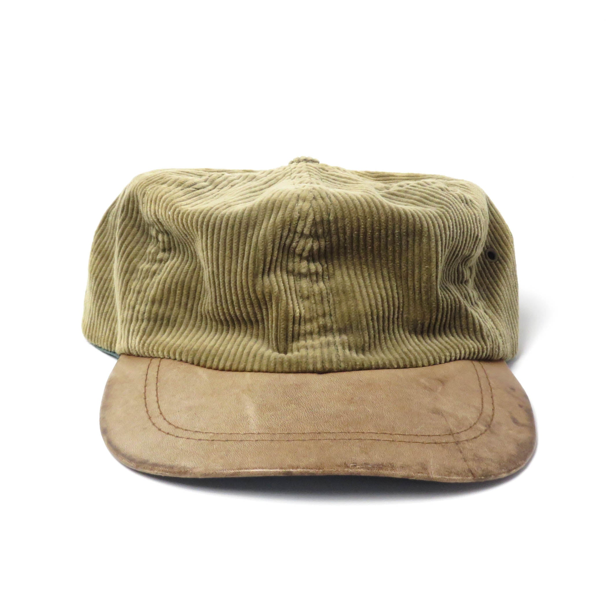 Vintage Eddie Bauer Corduroy/Leather Flex Hat
