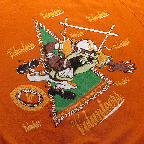 Taz Tennessee Volunteers Crewneck Sweatshirt Sz M