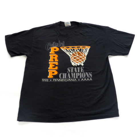 Vintage Cathedral Prep 1993 State Champions T-Shirt Sz L