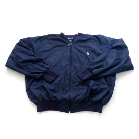 Nautica Zip Up Windbreaker Bomber Jacket Sz L