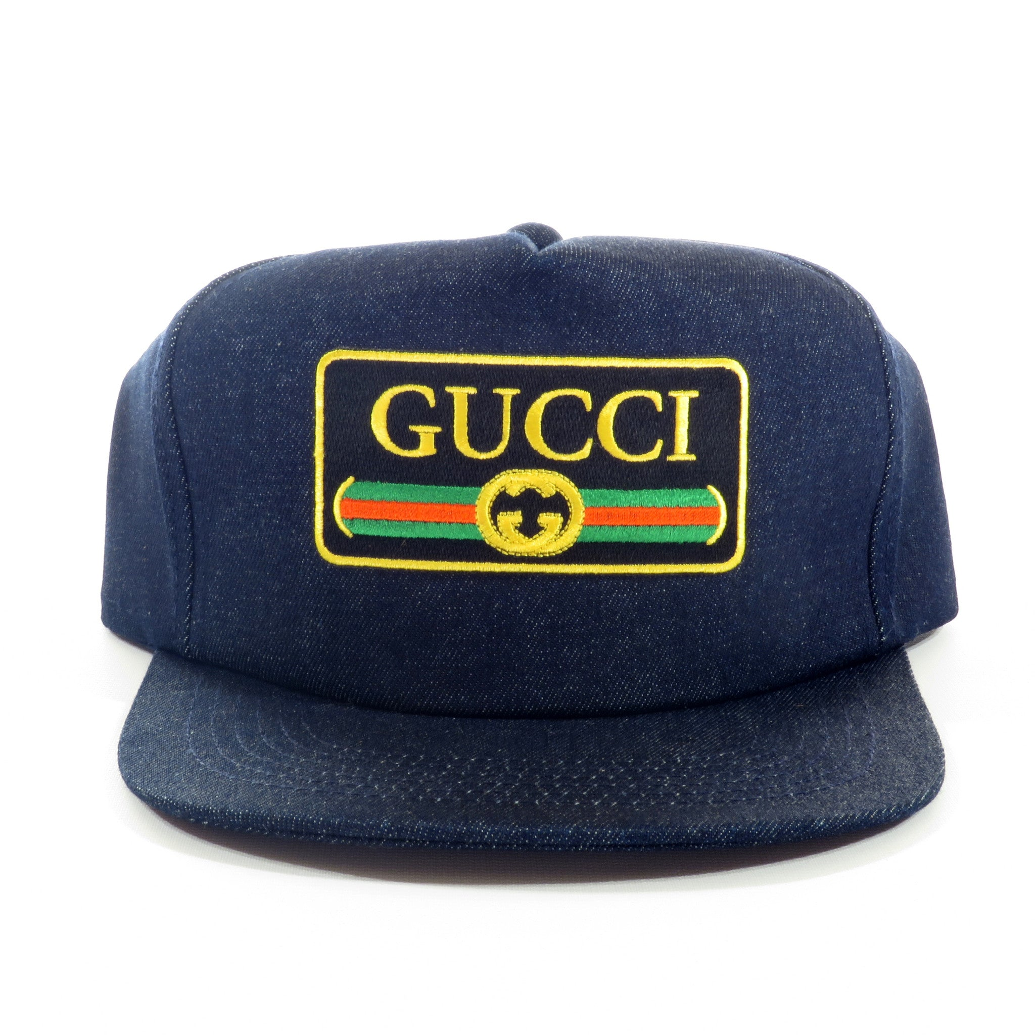 Gucci Rolls Royce Raw Denim Snapback Hat