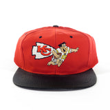 Kansas City Chiefs Fred Flintstone Snapback Hat