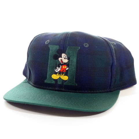 Mickey Mouse Plaid Green Snapback Hat