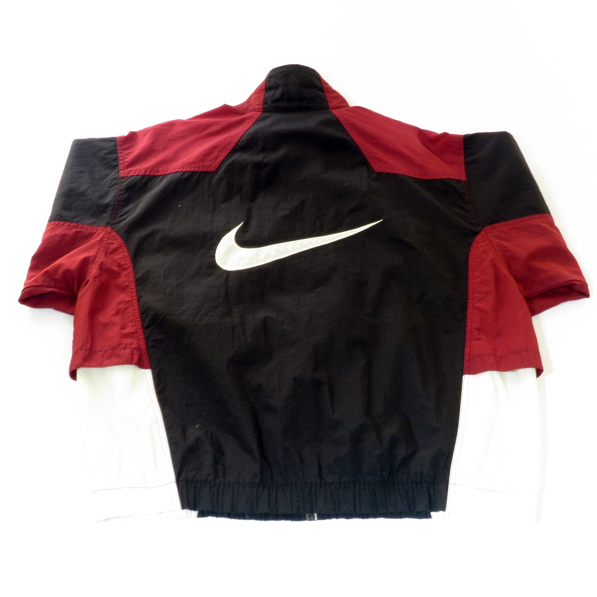Nike Tri Color Zip Up Windbreaker Jacket Sz L