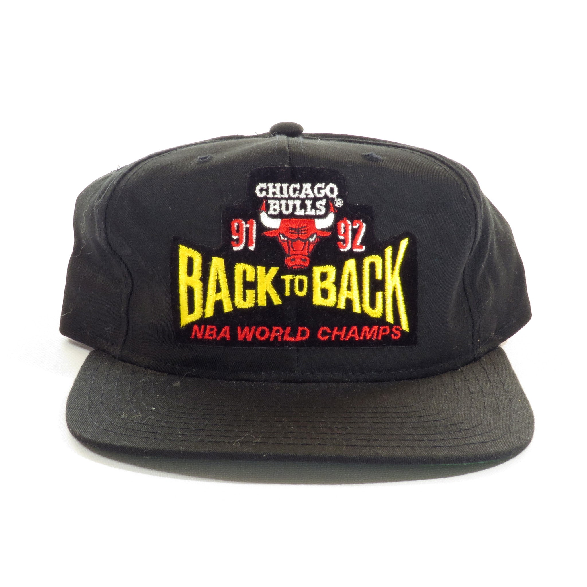 7fd2ab12b3c05 Chicago Bulls 91 92 Back to Back NBA World Champions Snapback Hat ...