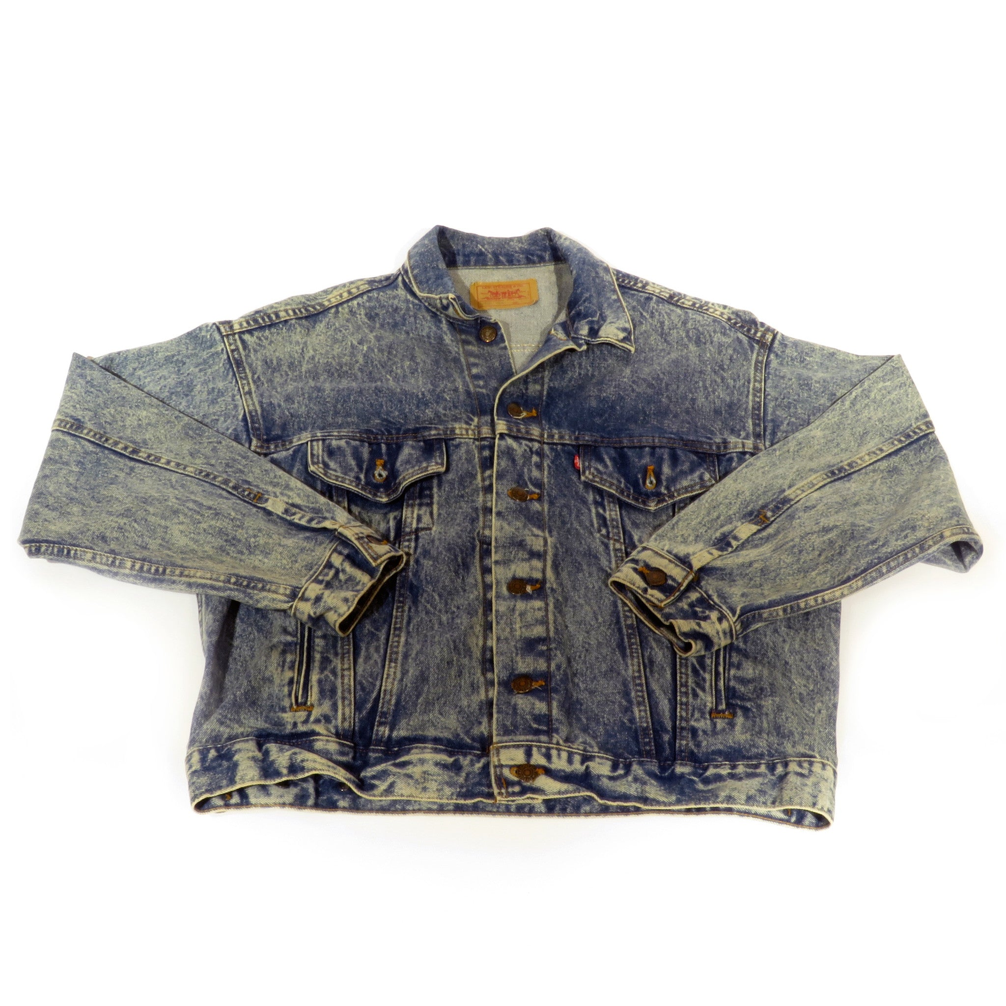 Levis Acid Wash Denim Jacket Sz L