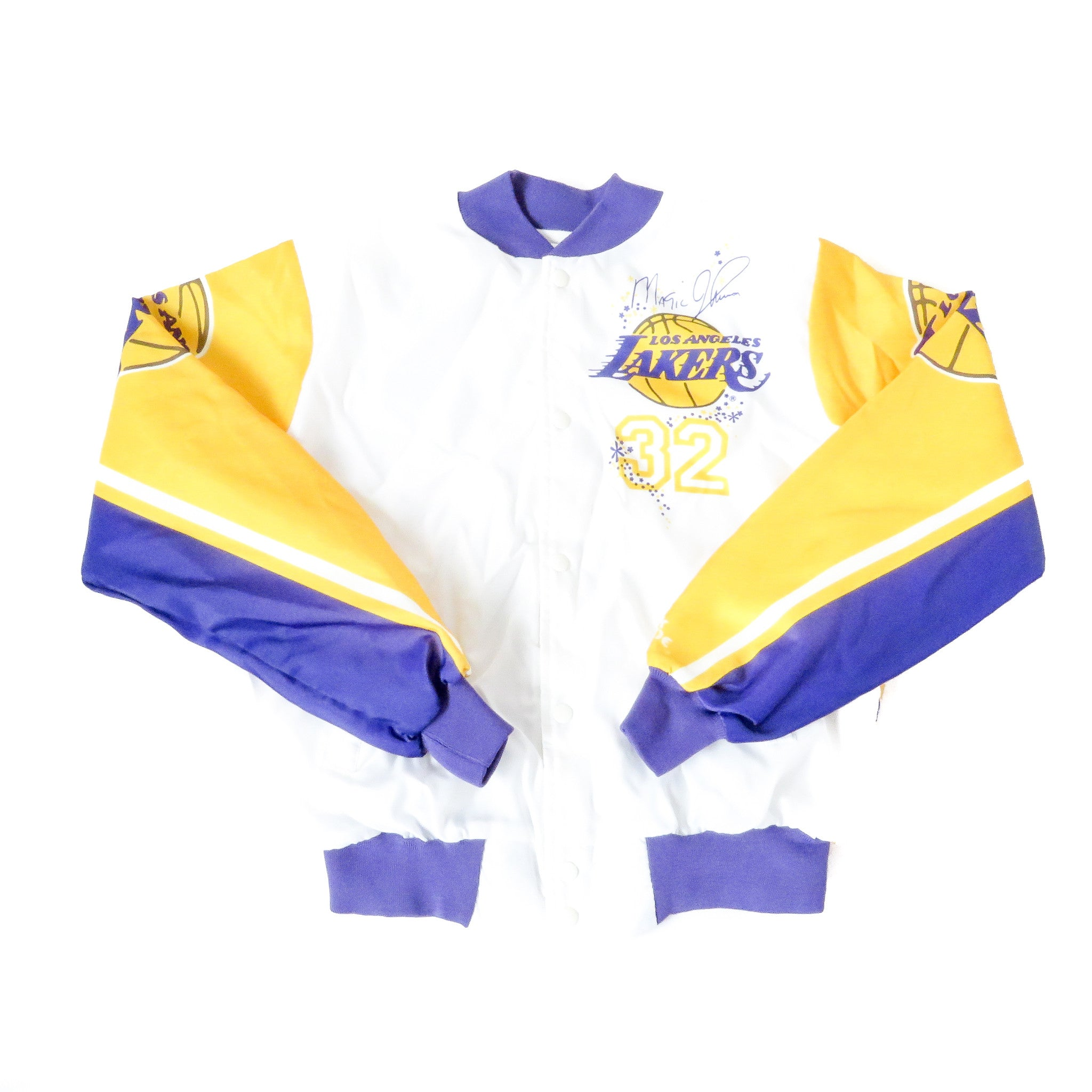 Vintage Magic Johnson Lakers Chalk Line Jacket Sz XL